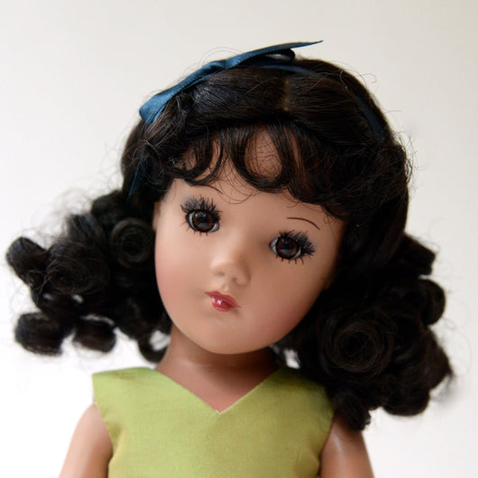 Playdoll - Dark Curly with Pig Tails - Ethnic skin tone