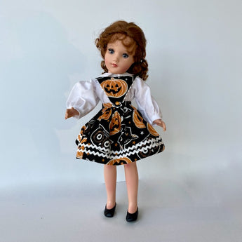 Dress -  Fall Pumpkins and Cats - Jumper and Blouse