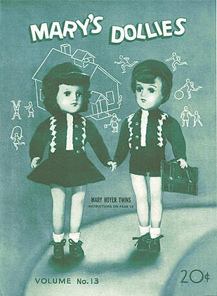 Mary's Dollies Knit and Crochet Pattern Book, Volume 13