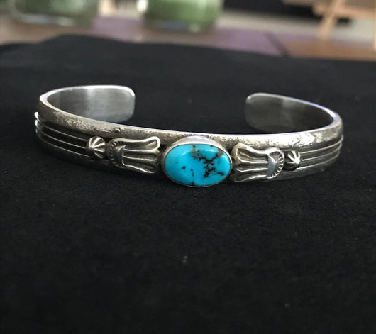 Handmade Sterling and Turquoise Bracelet