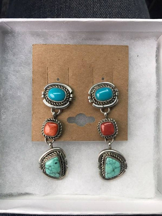 Sterling Silver Navajo Earrings