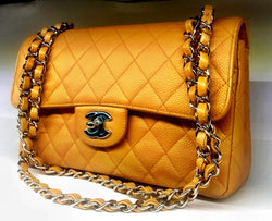 Chanel Beige Caviar Medium Double-Flap Bag