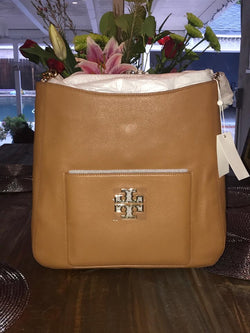 Tory Burch Britten Hobo Women Tan Tote