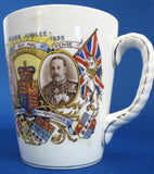 Mug King George V England Silver Jubilee Queen Mary 1935 James Kent Lovely Graphics