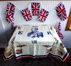 Table Cloth Edward VIII Coronation Abdicated England Rare Bridge Cloth