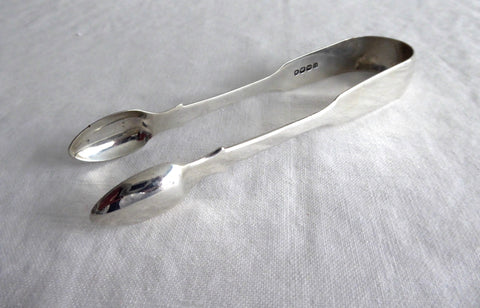 London Regency Era Sugar Tongs 1822 Hallmarked Sterling Initials F H
