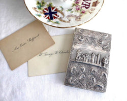 Sterling Silver Regency Card Case 1835 Hallmarked Castle Abbotsford Taylor and Parry