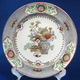 Copeland Plate Luster Transferware 1880s Bouquet Jar Antique Oriental English Ironstone