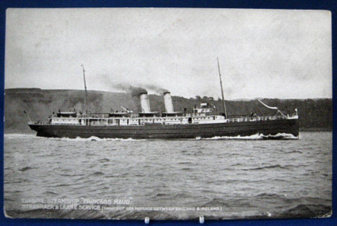 Railroad Postcard Real Photo L&NW Steamship Princess Maud 1880s Royal Mail Route