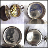 Edwardian Ladies Pocket Watch Chatelaine Enamel 800 Swiss Not Running TLC