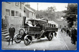 Railroad Postcard Real Photo L&NW Steam Goods Lorry Holywell Wales 1880-1890