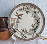 Aesthetic Soup Plate 1881 Wedgwood Louise Brown Transferware Bird Vignettes Bowl