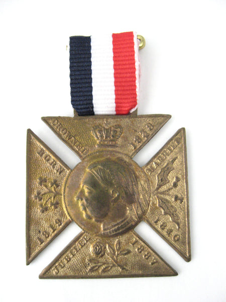 Medal Queen Victoria Golden Jubilee 1887 Maltese Cross Commemorative
