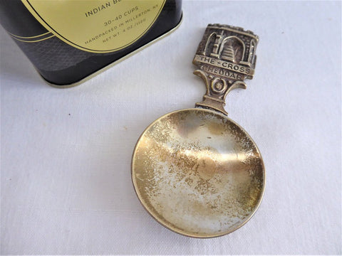 Cheddar England Tea Caddy Spoon Tea Scoop Victorian Souvenir 1890s