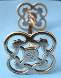 EPNS Antique Kniferest Quatrefoil Pierced Ends Twist Bar 1880s Cutlery Rest