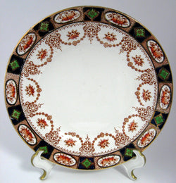 Imari Luncheon Plate 9 Inch Colclough England Swags Gold Antique 1890s Colclough
