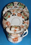 English Imari Cup Saucer Plate Victorian Antique Hudson 1890s Sutherland Edwardian