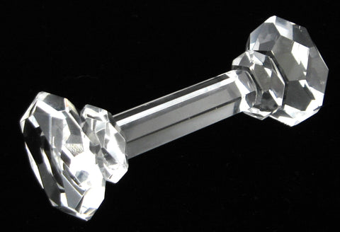 Victorian Era Crystal Kniferest English Faceted Dumbell Column Fancy 1890s
