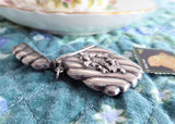 Victorian Silver Stamp Case Antique Chatelaine Watch Fob Sterling Silver Pendant USA