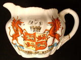 Shelley Wileman Dainty Creamer Crested Arms Of Wales Dragons Jug 1890s Wileman