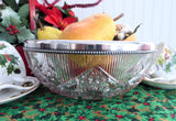 Ornate Bowl Hoare Brilliant Crystal Bowl Gorham Sterling Silver Rim Book Piece 1897
