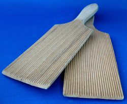 Edwardian Butter Paddles Pair English Corrugated Hands Maple Kitchen Tools 1900 Gadgets