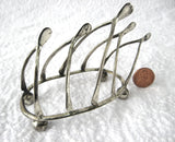 Edwardian Wishbone Toast Rack Toast Points For Pate Ball Feet England