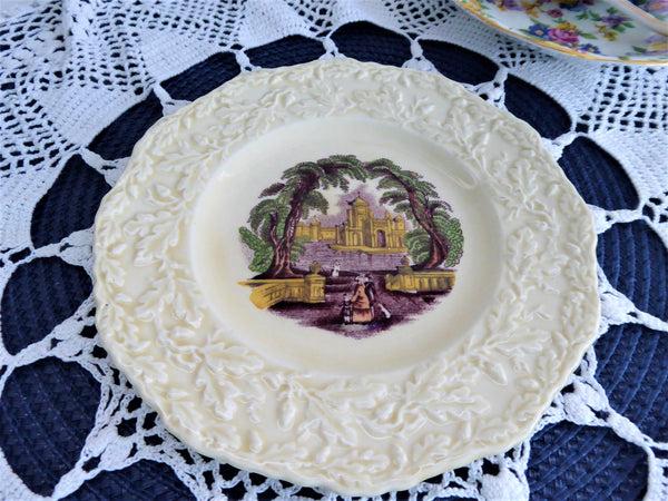 Plate Mason's Oak Polychrome Transfer Embossed Border 6 Inch Side Bread