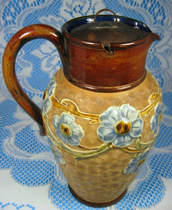 Royal Doulton Jug Pitcher Circle Ware Art Nouveau Floral M Holbrook 1902-1922