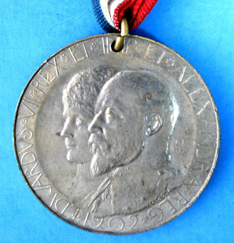Medal Edward VII And Alexandra Coronation 1902 By Mayor Of Huddersfield