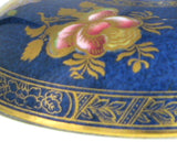 Copelands Spode Lid Only Blue Butterflies 1904 Edwardian English Ironstone