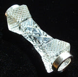 Cutlery Rest Faceted Crystal And Sterling Rings WHS London 1904