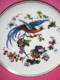 Wedgwood England Fancy Bird Plate Pink Hexagon Edwardian Fantasy Bird