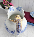 Edwardian Iona Blue Transferware Pitcher Jug Ewer Blue And White E Wedgwood