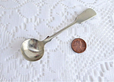Edwardian Mustard Spoon Master Salt Spoon 1910s Birmingham Silverplate