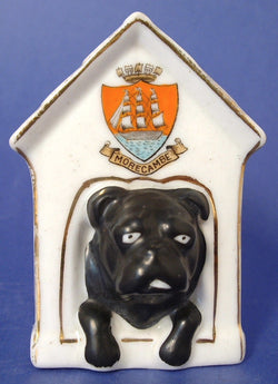 Shelley Crested China Dog House Black Watch Pun Edwardian 1900-1910s