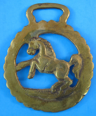Horse Brass Prancing Horse Of Kent England Pub Brass 1920s Harness Ornament