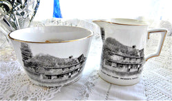 Shelley England Cream And Sugar Edwardian Souvenir Crested China Sussex 1912