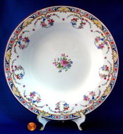 English Ironstone Soup Bowl Meakin Art Deco Transitional Soup Plate 1920s