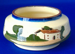 Mottoware Sugar Basin Watcombe Devon Ware Soft Words Win Hard Hearts 1910s