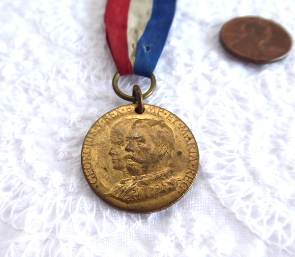 King George V And Queen Mary 1911 Coronation Medal And Ribbon