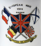 WWI European War Jug No Price Can Be Too High Pitcher Creamer Royal Albert