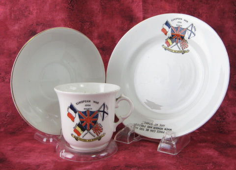 World War 1 European War Teacup Trio No Price Can Be Too High Royal Albert