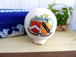 Shelley Golf Ball Crested China 1916 Stratford Shakespeare Bone China