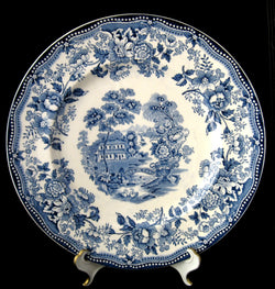 Tonquin Dinner Plate Blue Transferware 1920s Royal Staffordshire 10 Inch