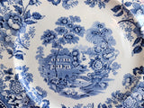 Tonquin Dinner Plate Blue Transferware 1920s Royal Staffordshire Clarice Cliff 10 Inch