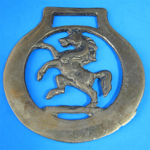 Horse Brass Rearing Horse Invicta Kent Pub Brasses 1940s Harness Ornament