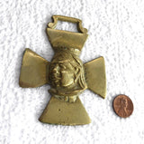 Horse Brass Queen Victoria Maltese Cross Reproduction 1936-7 Harness Ornament