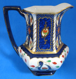 Royal Winton Imari Pitcher Jug Hand Painted Gaudy Welsh Gaudy English 1920s
