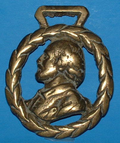 Horse Brass William Shakespeare England Souvenir 1920s Harness Ornament
